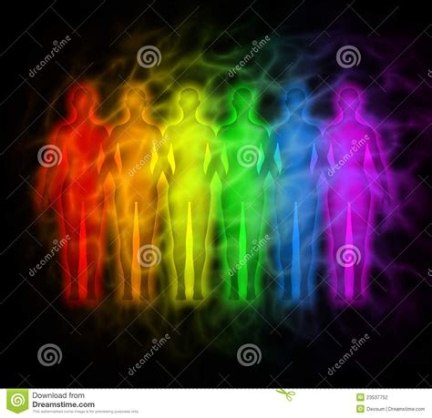 rainbow people rainbow silhouettes  human aura stock