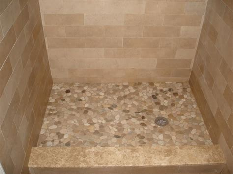 river rock shower floor pebble tiles for shower floor porcelain tile shower with