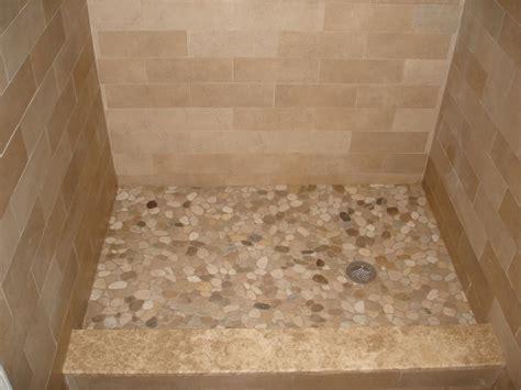 River stone shower floor new jersey custom tile