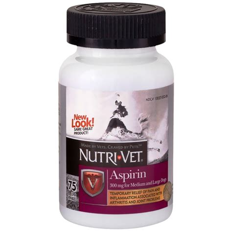 dogs and aspirin nutri vet k 9 aspirin for large dogs 75 chewables