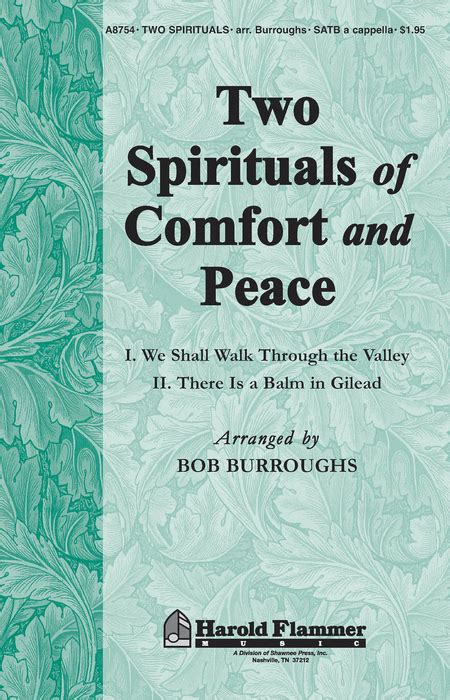 comfort and peace two spirituals of comfort and peace sheet music by