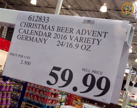 Costco Calendar The Not So Professional 2016 Brewer S Advent