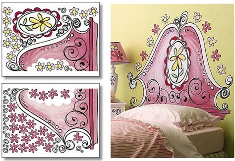 girly headboards wallies girly headboard big wall mural
