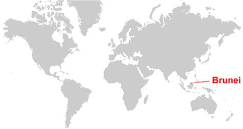 brunei on the world map brunei map and satellite image