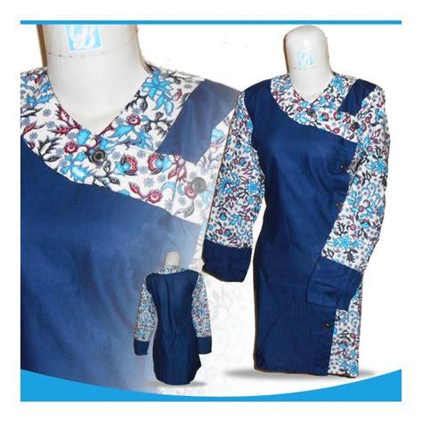 Kaos Batik 16 baju batik atikah 0494 16 muslimah biru terbaru