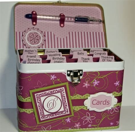 Birthday Card Organizer Cottage Wall Card Organizer Tin And Cards Class Sept 27