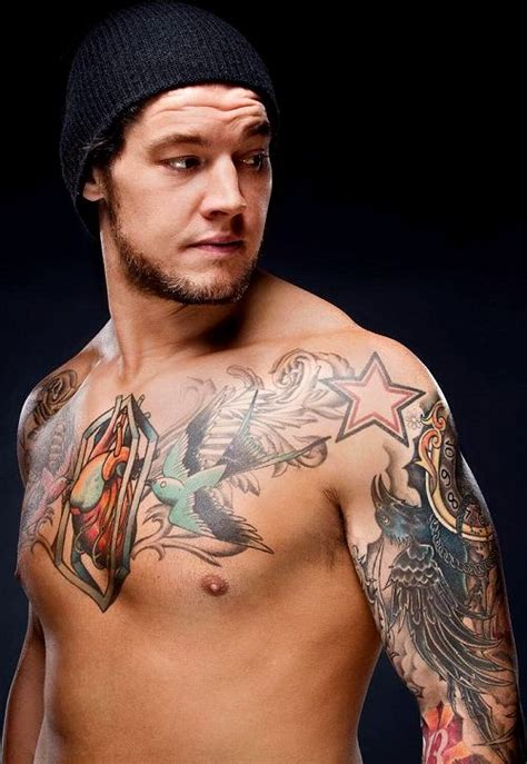 wwe superstar baron corbin makeup and tattoos