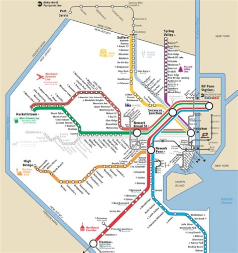 new jersey transit map image gallery nj transit