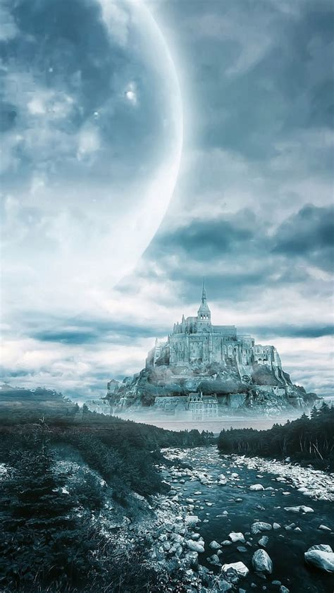dream moon castle iphone  wallpapers hd