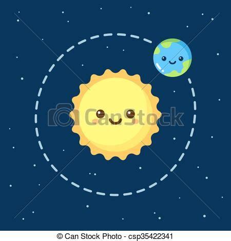 ilustraciones de vectores de sol tierra luna espacio gr 225 ficos vectoriales eps de lindo tierra caricatura sol