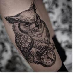 30 fabulous owl with clock tattoos ideas golfian com
