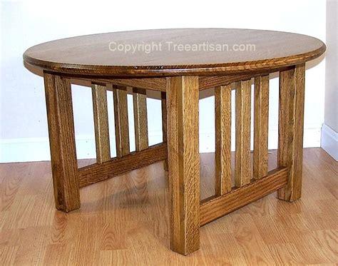 mission craftsman quarter sawn oak coffee table