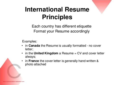 international resume format for accountant professional associations of international resume writers