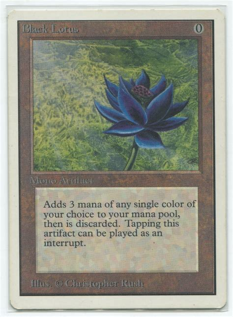 black lotus mtg ebay magic mtg unlimited black lotus near mint nm power nine