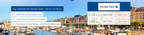 deutsche bank festgeldzinsen nordax festgeld im test festgeldanlage ab 2 000
