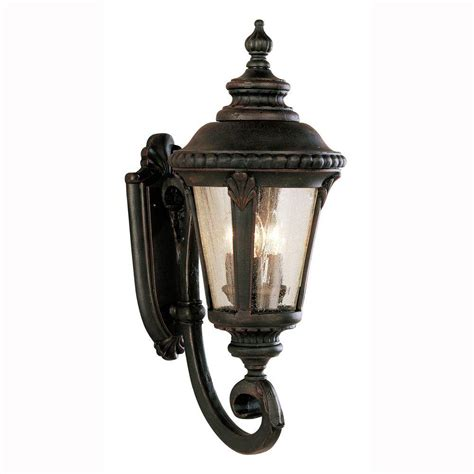 Outdoor Coach Light Bel Air Lighting Way 3 Light Rust Outdoor Coach Lantern With Seeded Glass 5041 Rt The