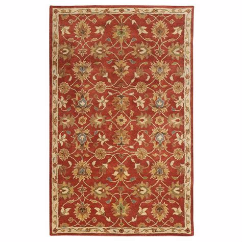 home decorators collection rugs home decorators collection kent red 4 ft x 6 ft area rug