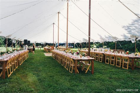 Sailcloth Tent, Farm Table Row Seating   McCarthy Tents