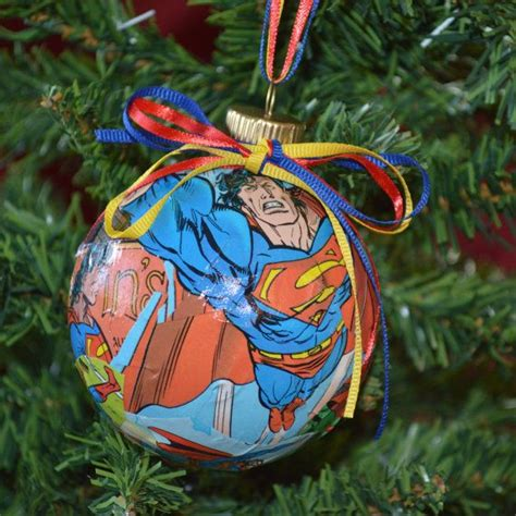 comic book ornaments superman ornaments christmas