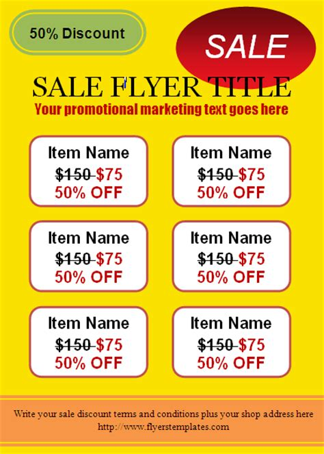 Sale Flyer Template free for sale flyer template