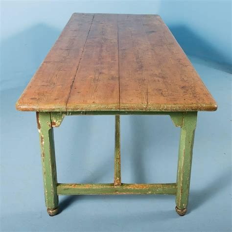 antique pine harvest table from sweden original painted