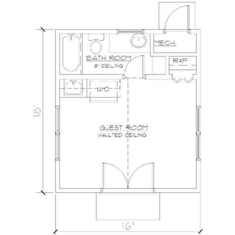 288 square feet bungalow style house plan 1 beds 1 baths 288 sq ft plan