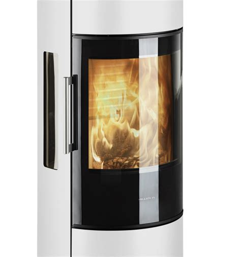 Stove Door Glass Hwam 3650 Wood Stove In White With A Energy Rating