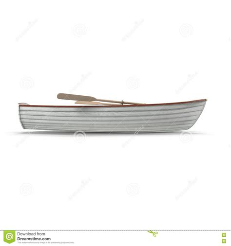 side of a fishing boat fishing boat isolated on white side view 3d illustration