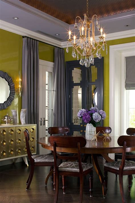 yellow dining room ideen trendy color duo 20 dining rooms that serve up gray and