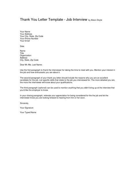 thank you letter after panel thank you for the letter template resume follow