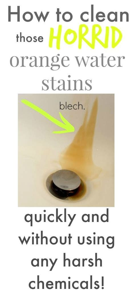 how to clean hard water stains from bathtub 25 best ideas about water stains on pinterest hard