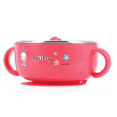 nuby sure grip warming stainless steel suction bowl