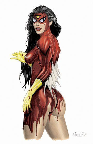 safe wednesday spider woman superhero amp fi female pin ups spider