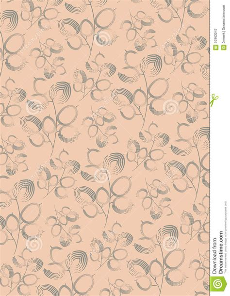 vintage inspired upholstery fabric vintage style of flowers fabric pattern stock illustration