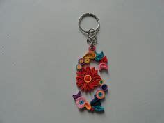 How To Make Paper Keychains - quilled s keychain on alphabet
