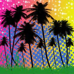 colorful palm tree background from photoshop flickr