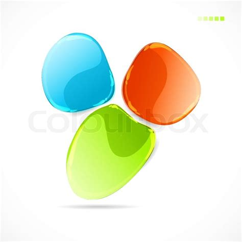 abstract colorful glass shape vector background stock