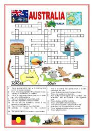 easy crossword puzzles australia english worksheets australia worksheets