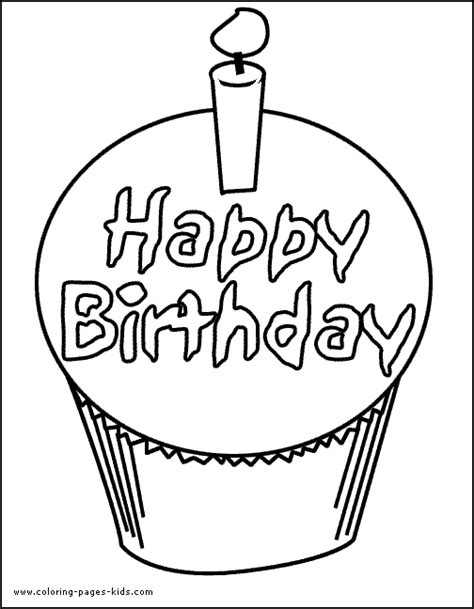 Happy Birthday Cake Coloring Page Happy Birthday Cake Coloring Page For Kids Birthday by Happy Birthday Cake Coloring Page