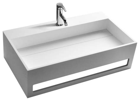 resin sinks bathrooms adm matte white wall hung stone resin sink modern