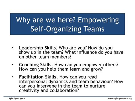 notes to a software team leader growing self organizing teams books basics of coaching from agile open space workshop