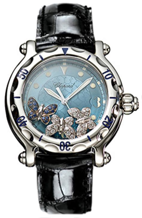 Chopard Buterfly Leather 288452 3001 chopard happy butterflies womens watches