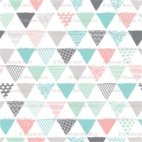 triangle pattern tribal geometric tribal aztec triangle pastel pink and blue
