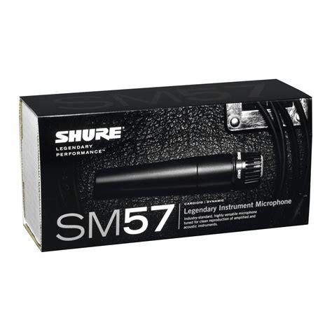 Shure Microphone Sm57x2u shure sm57 dynamic instrument microphone at gear4music