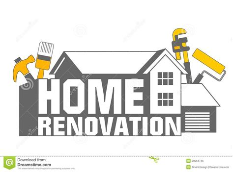 home renovation icon stock illustration image of home