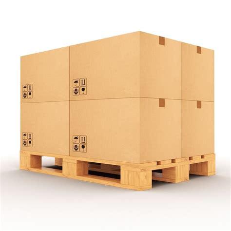 3d model pallet with boxes vr ar low poly max obj fbx