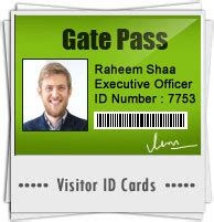 pattern visitor exle visitors gate pass id cards maker software design gate