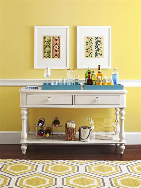 sofa table ideas decor decorating ideas one table done four ways hgtv