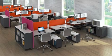 Open Office Desks Wow Watson Bahn Modern Office Furniture 201 Enhance Your Open Office Designs