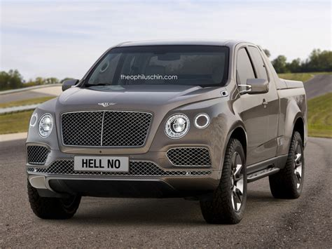 bentley bentayga truck bentley truck study is of the quot hell no quot variety